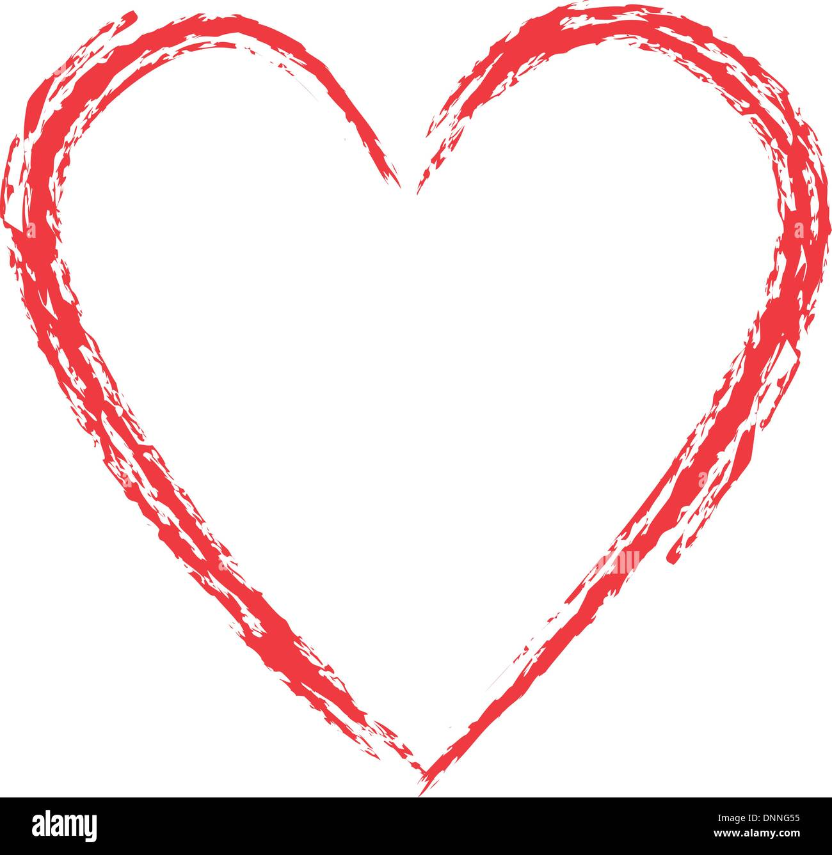 Stile grunge cuore Illustrazione Vettoriale