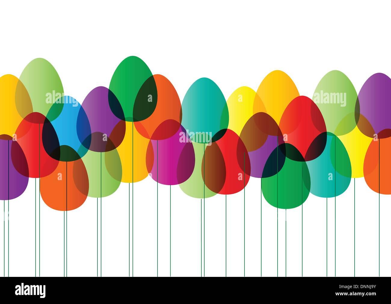 Felice Pasqua card Illustrazione Vettoriale