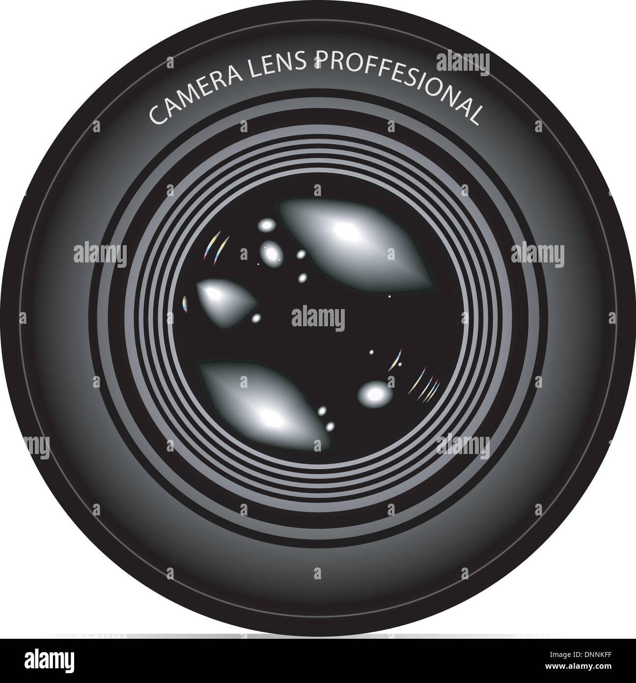 La lente della fotocamera illustrazione vettoriale Immagini Stock
