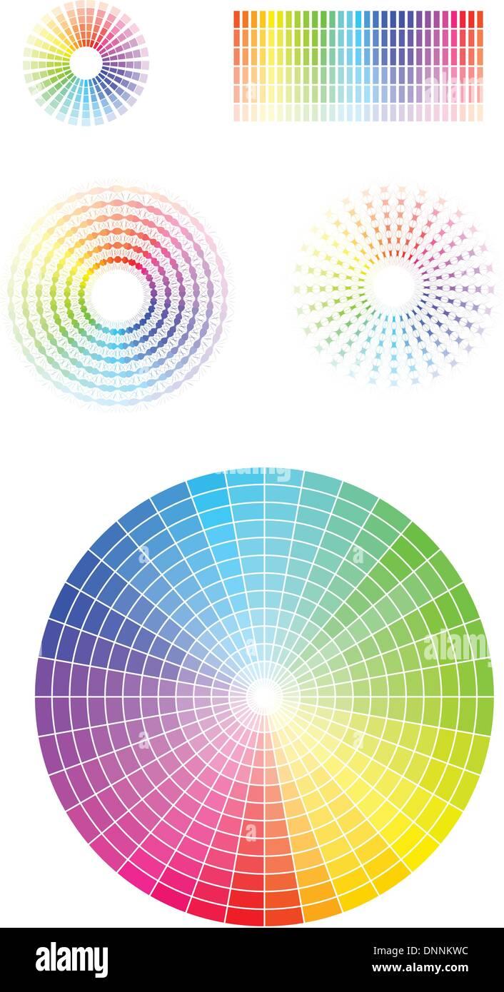 Ruota dei colori. Illustrazione Vettoriale set. EPS v 8. Immagini Stock