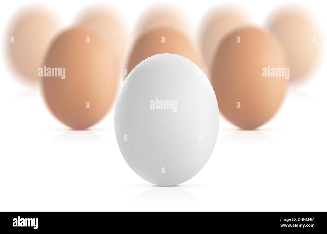 Concetto di uovo illustrazione vettoriale isolati su sfondo bianco Immagini Stock