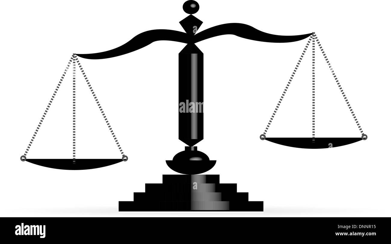 Illustrazione Vettoriale di giustizia scale Immagini Stock