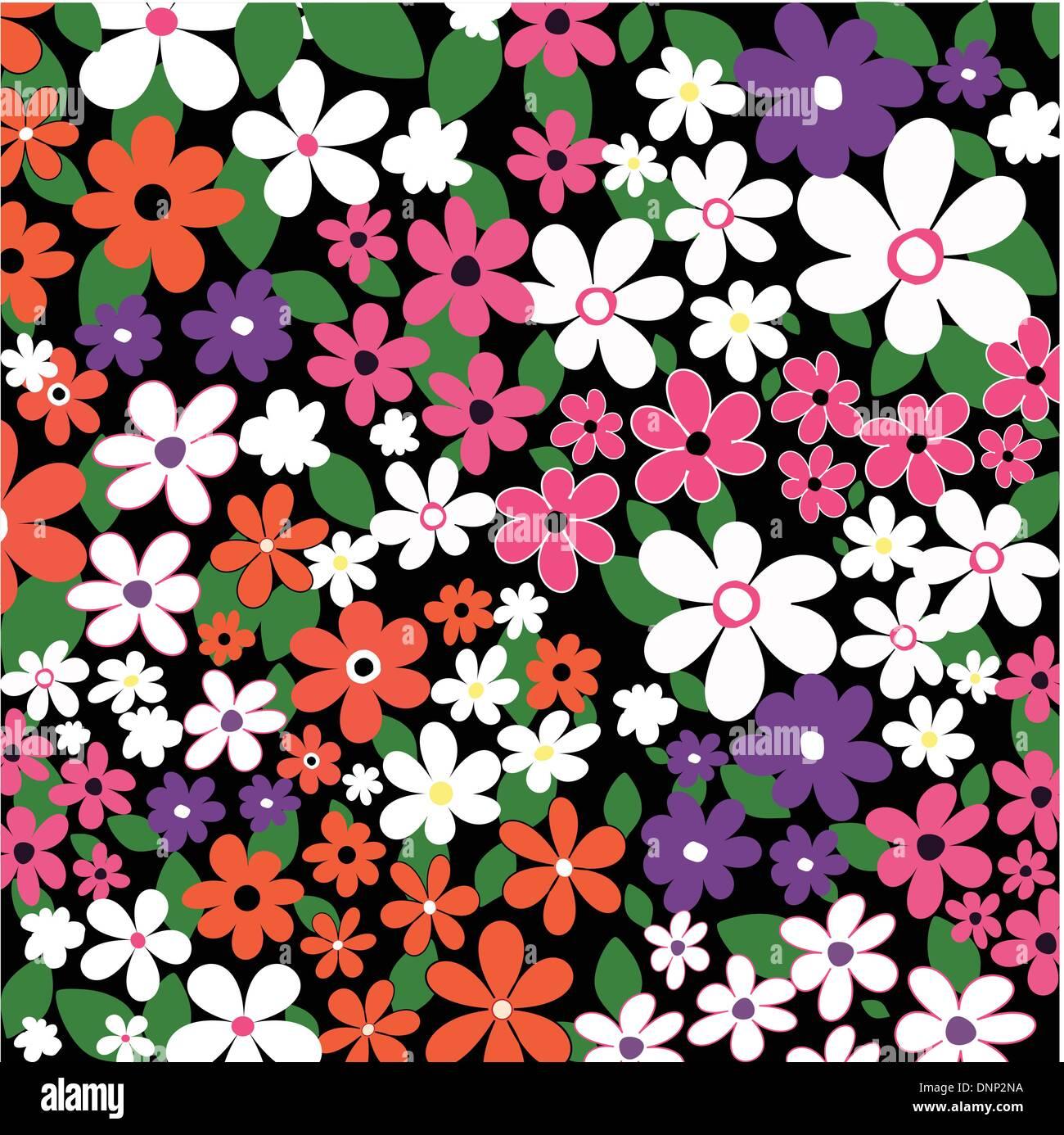 Sfondo di molti fiori Immagini Stock