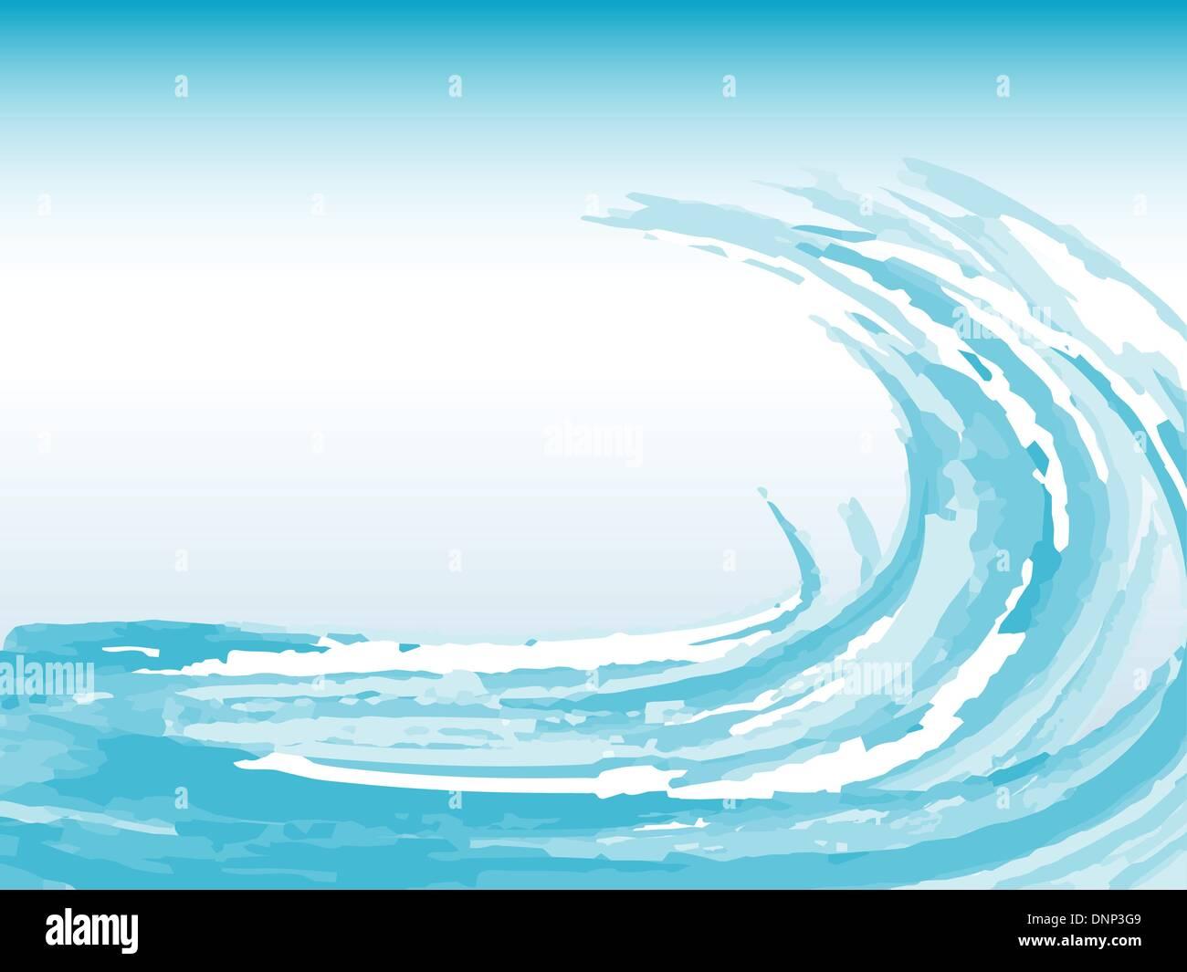 Abstract sfondo d'onda Immagini Stock