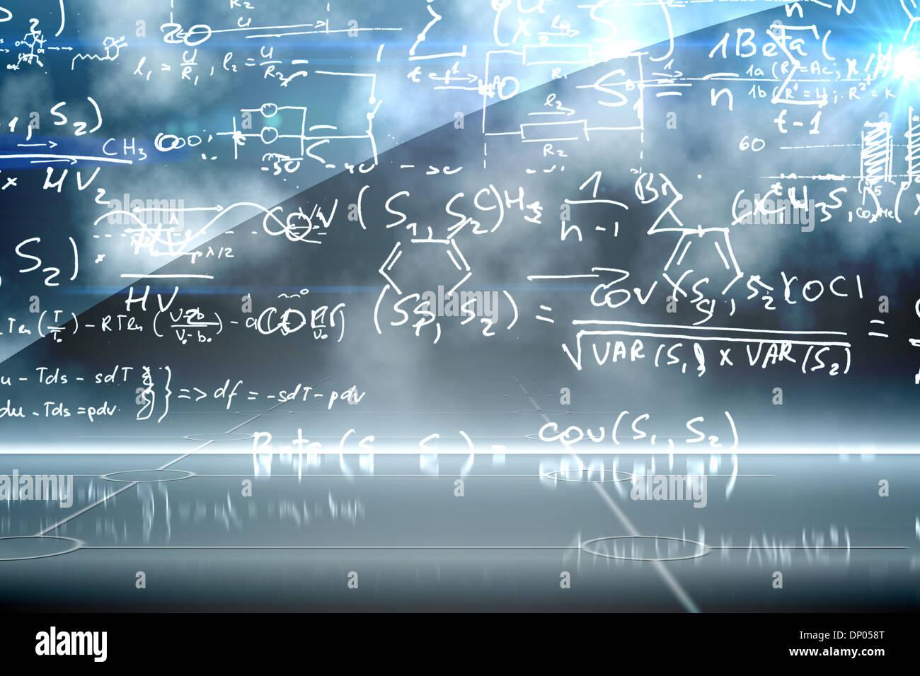 Equazione matematica di sfondo Immagini Stock