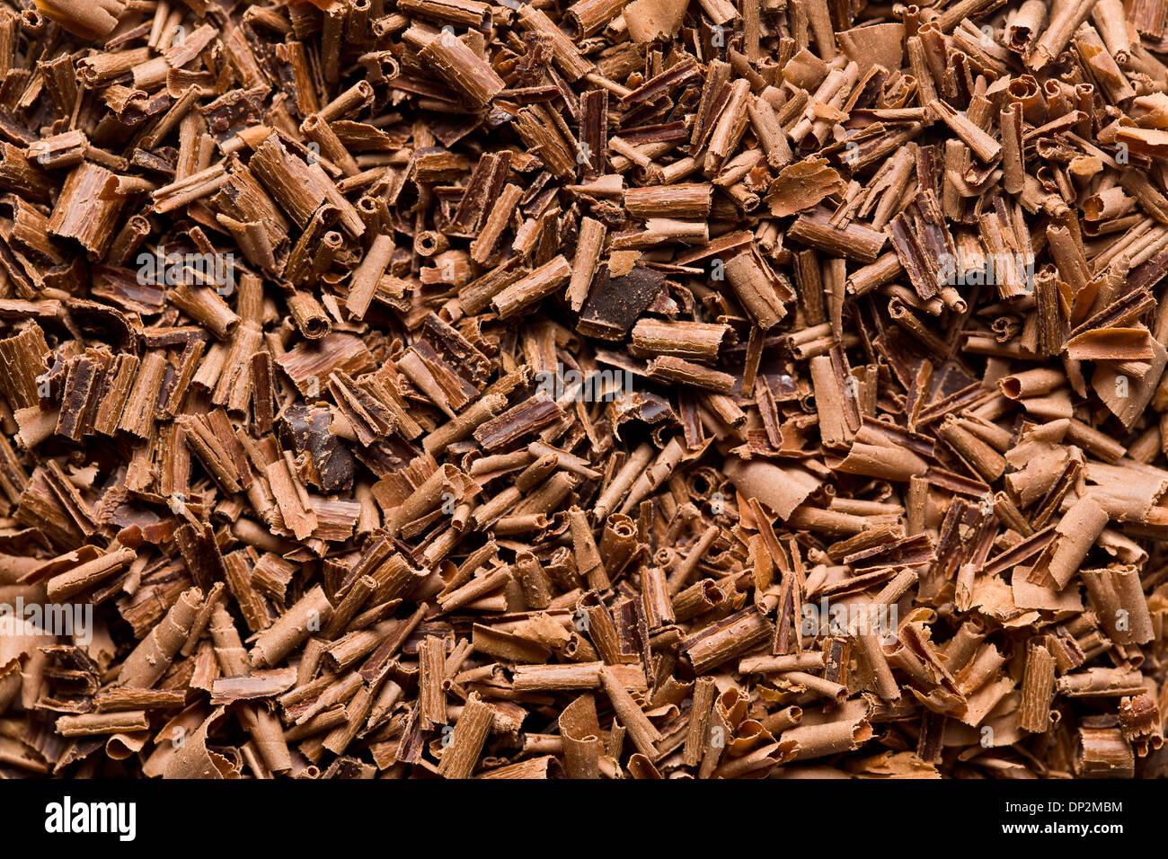 La consistenza del cioccolato al latte trucioli Immagini Stock