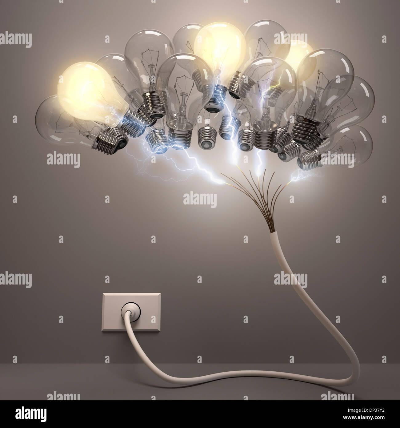 Creatività, opere d'arte concettuale Immagini Stock