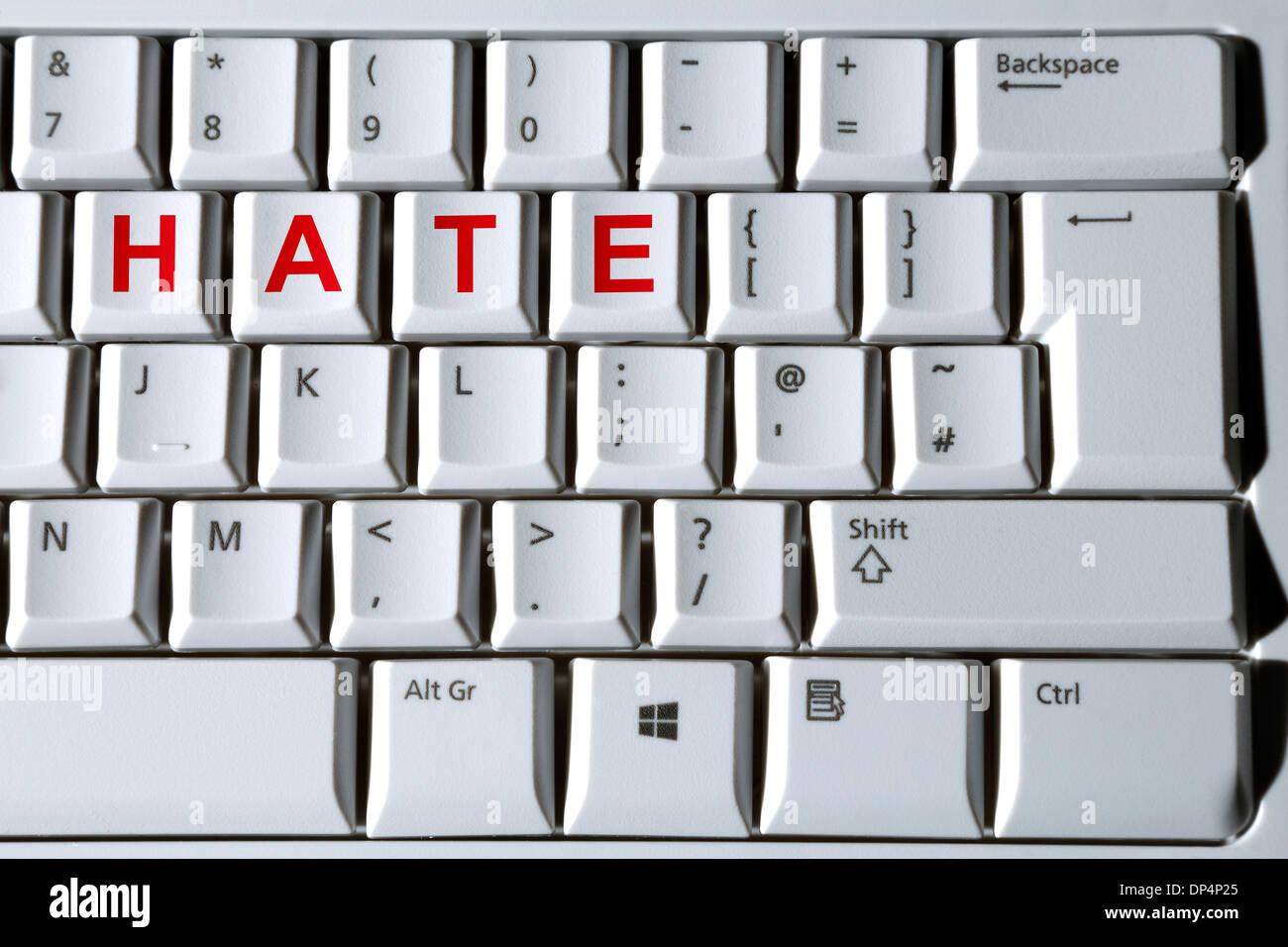Cyber bullismo, immagine concettuale Immagini Stock