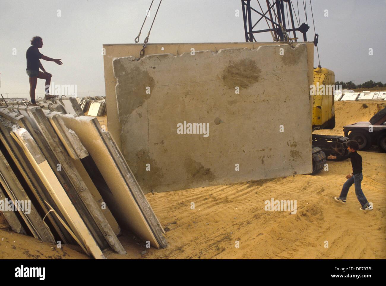 Yamit Israele 1982 insediamento israeliano tirato giù rimosso degli anni ottanta HOMER SYKES Immagini Stock