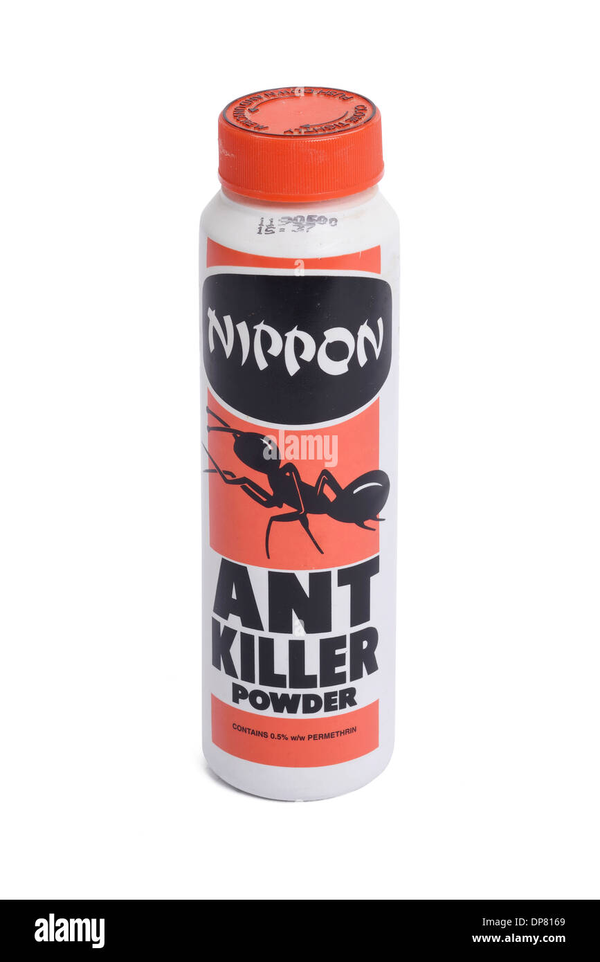 Contenitore di plastica di Nippon Ant Killer in polvere Immagini Stock