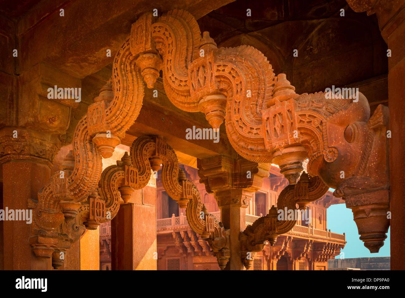 Fatehpur Sikri è una città e un'amministrazione comunale nel distretto di Agra nello stato di Uttar Pradesh, India Immagini Stock