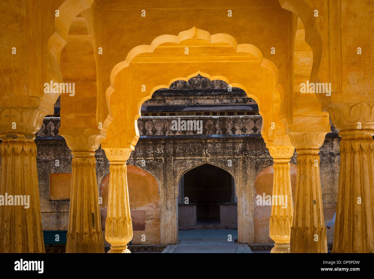 Amer Fort si trova in Amer 6,8 mi da Jaipur, stato del Rajasthan, India Immagini Stock