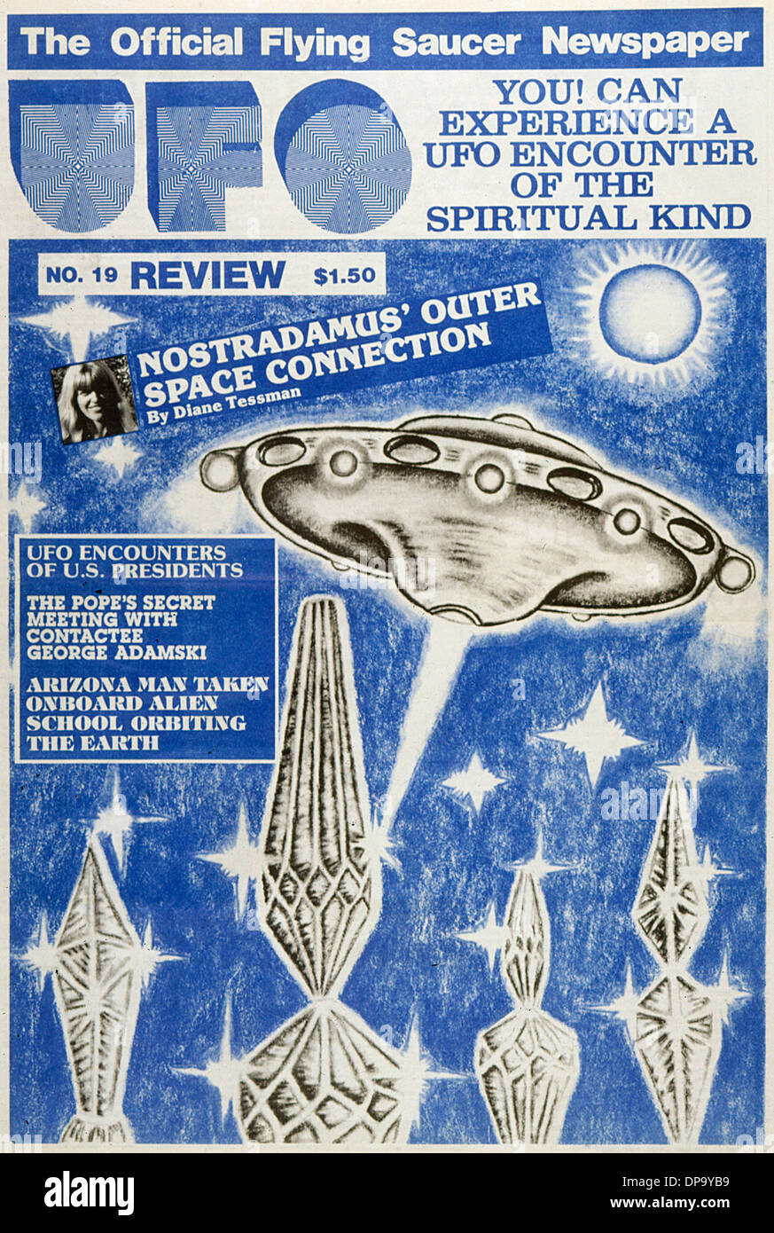 UFO problema di riesame 19 Immagini Stock