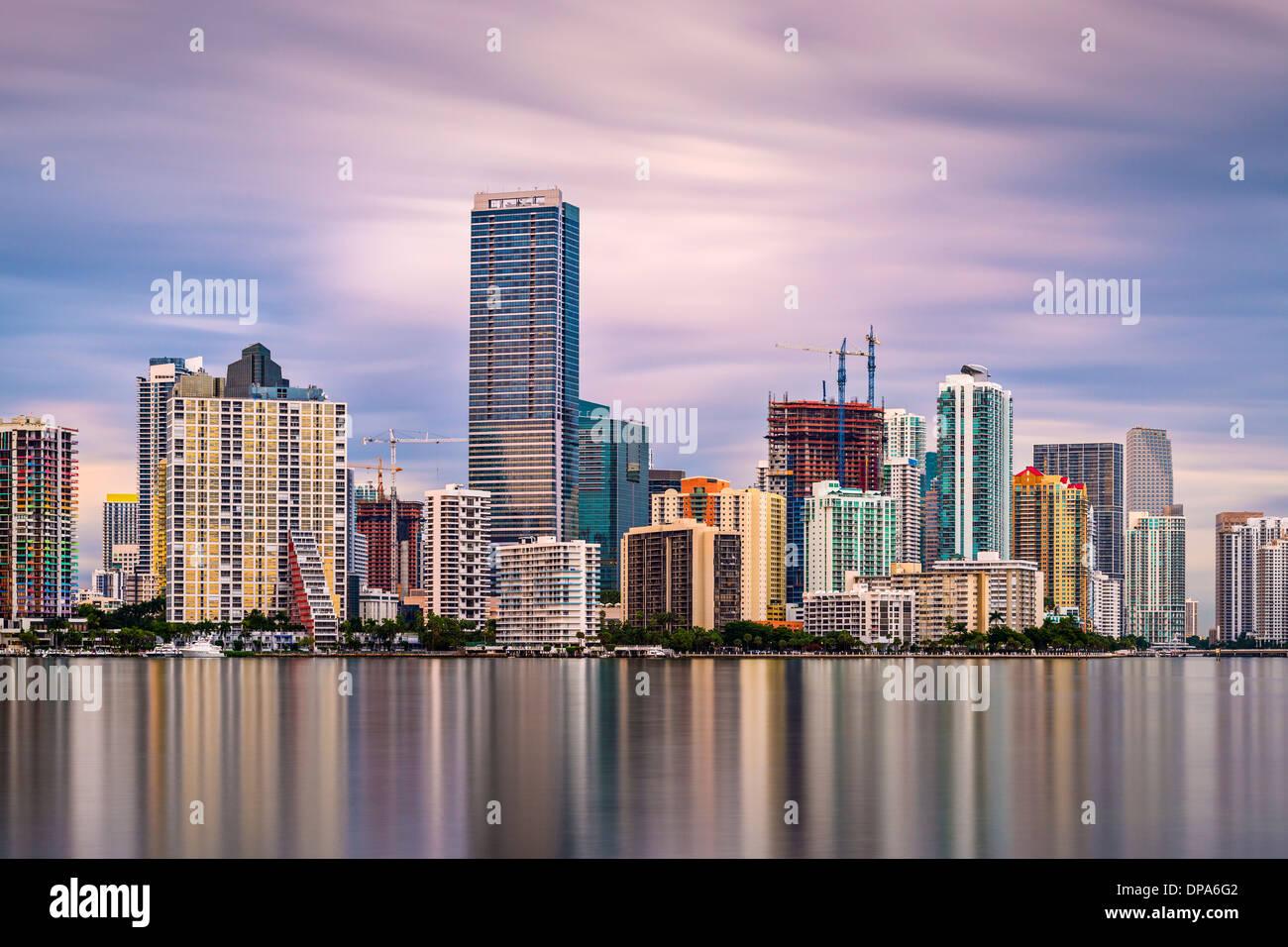 Skyline di Miami, Florida, Stati Uniti d'America. Immagini Stock