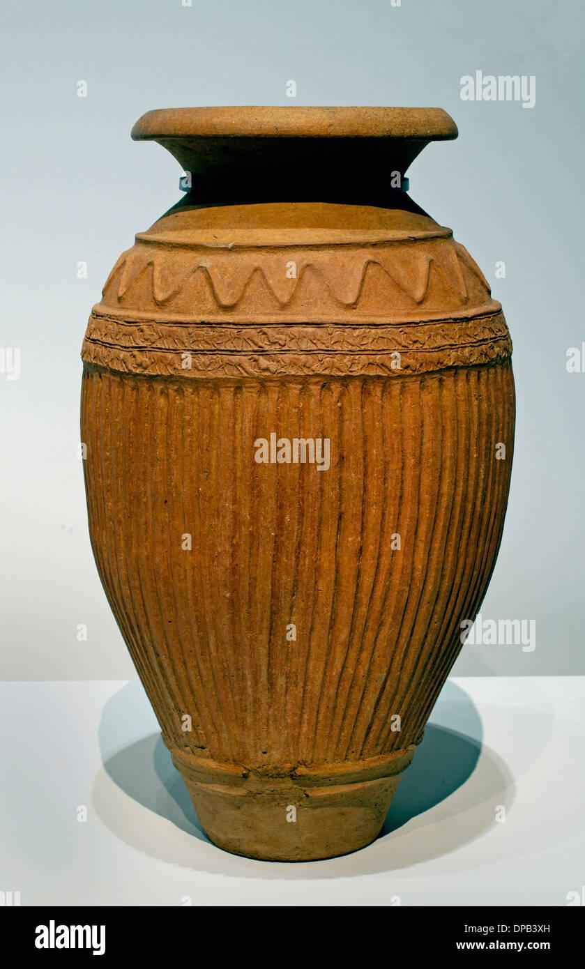 Pithos Jar 600 BC Cerveteri Necropoli Etrusca Toscana Italia Italiano Foto Stock