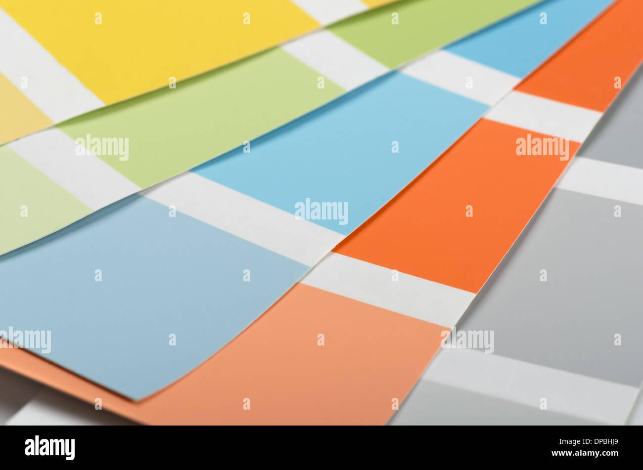 I campioni di vernice acrilico colori e sfumature Immagini Stock