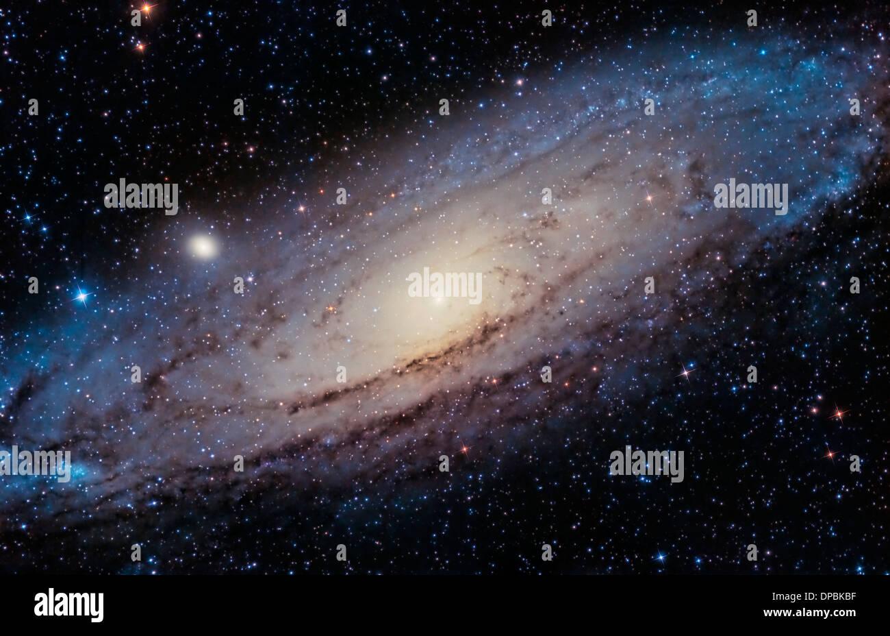 La grande galassia di Andromeda Immagini Stock