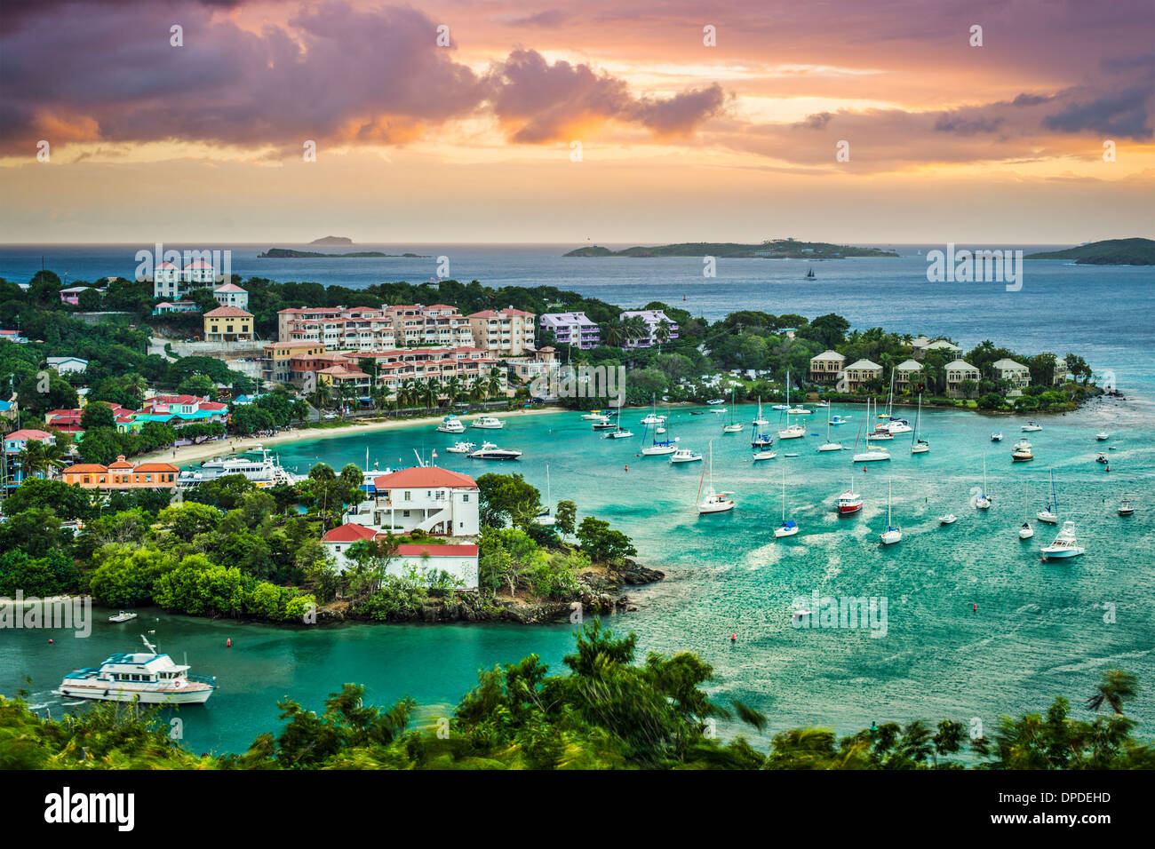 Cruz Bay St John, Stati Uniti Isole Vergini. Foto Stock