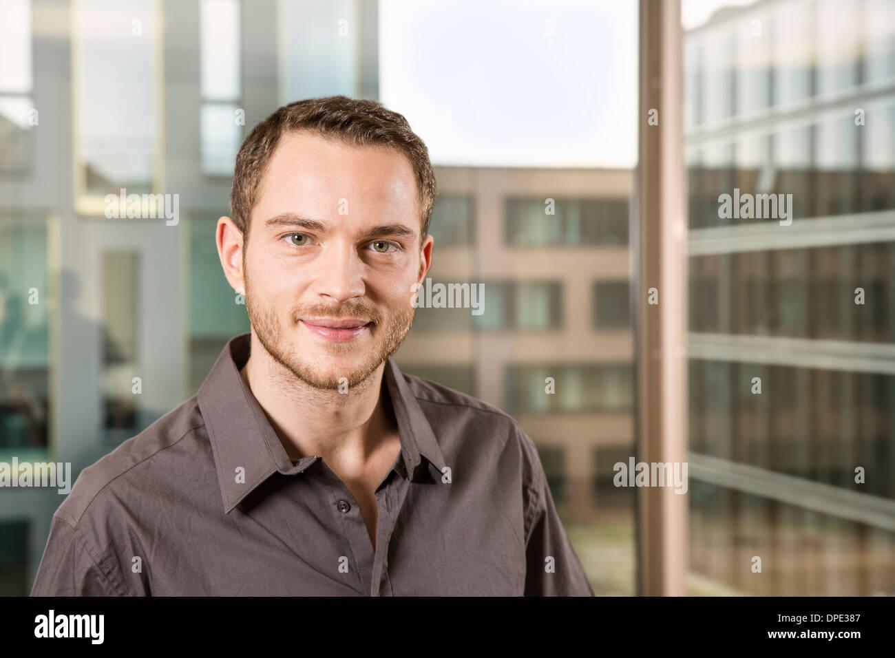 Ritratto di imprenditore Foto Stock