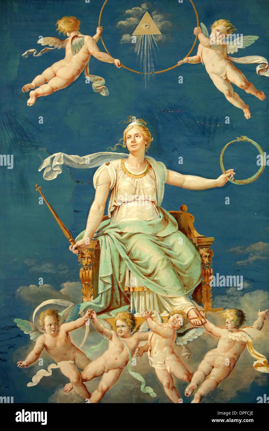 Gli angeli, tiarè, il Museo del Vaticano, Vaticano, Roma, Lazio, l'Italia, Europa Immagini Stock