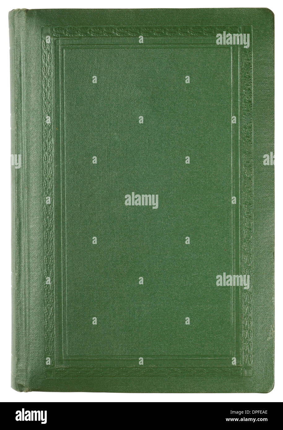 Copertina di un vecchio libro isolato su sfondo bianco Immagini Stock