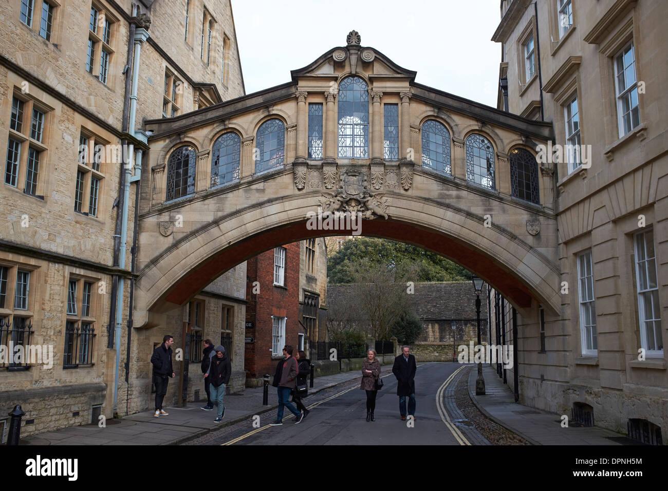Il Ponte dei Sospiri di Oxford City Centre Regno Unito Immagini Stock