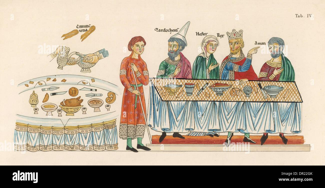 Banchetto medioevale Immagini Stock