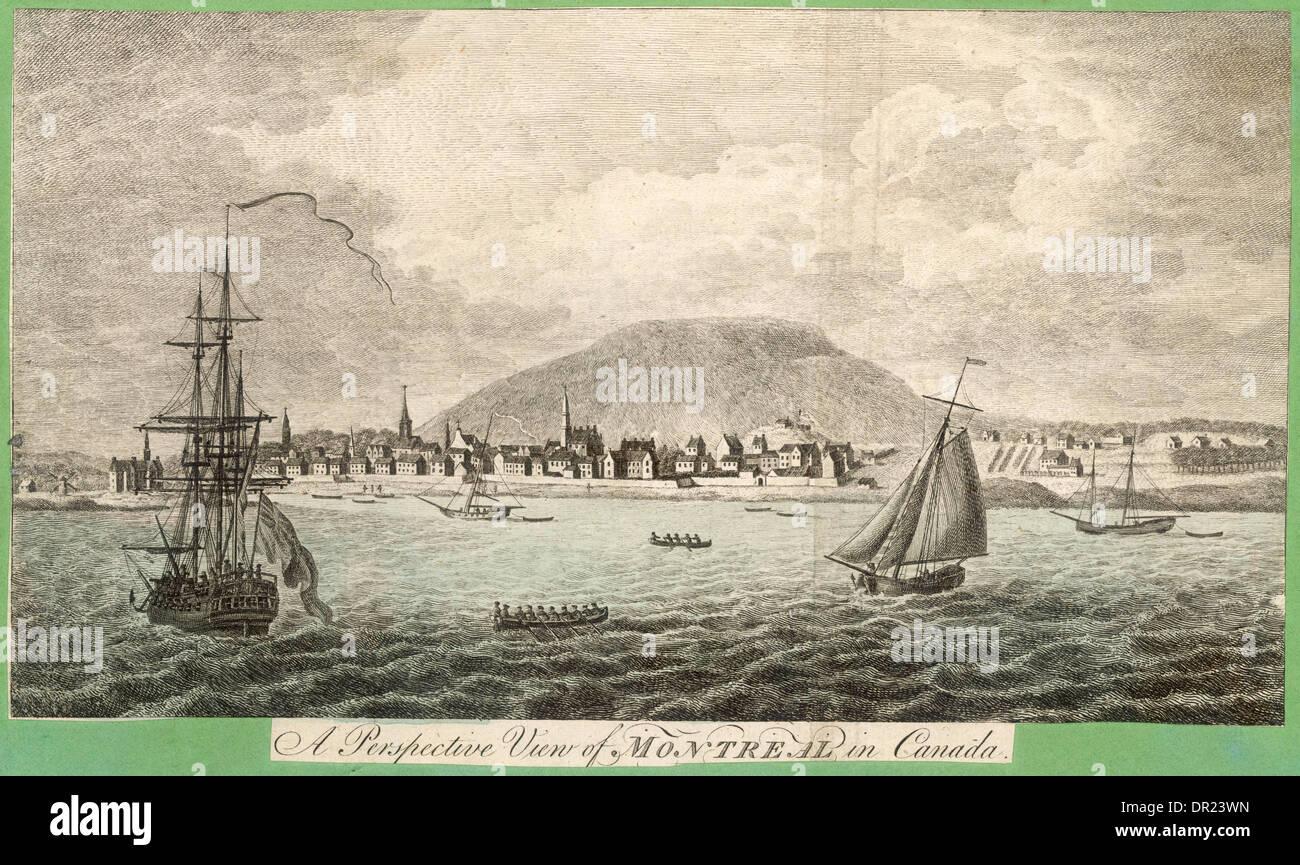 MONTREAL del XVIII secolo Immagini Stock