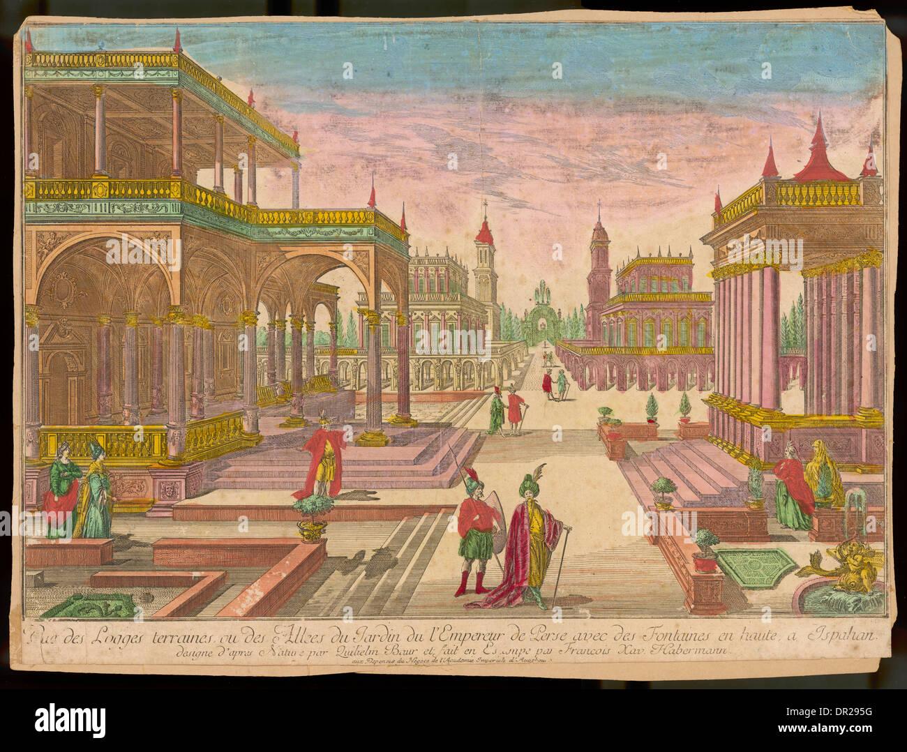 ESFAHAN, XVIII secolo Immagini Stock