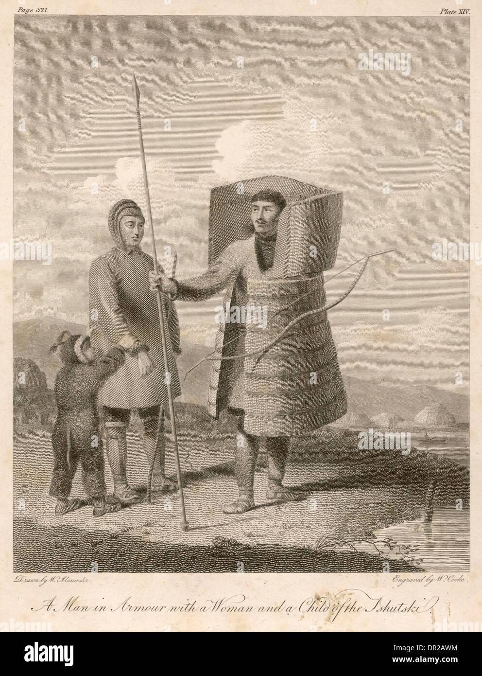 CHUKCHI IN guerriero Armor Immagini Stock