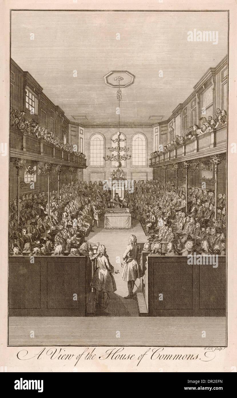 COMMONS XVIII secolo Immagini Stock