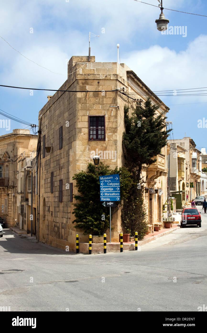 Tipica architettura di Gozo a Xaghra Immagini Stock