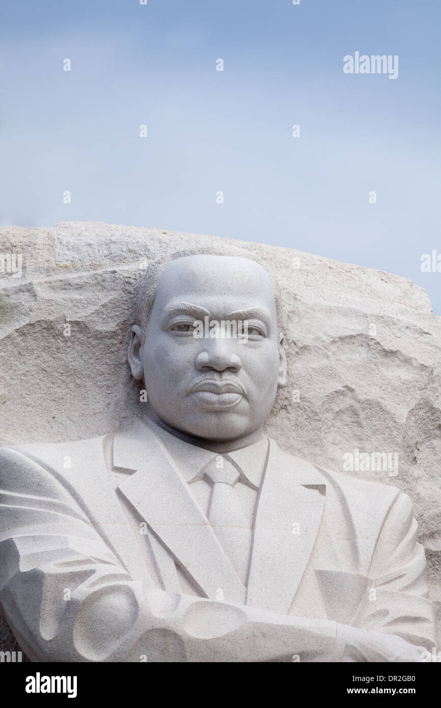 Martin Luther King Jr., il Monumento di Washington, DC Foto Stock