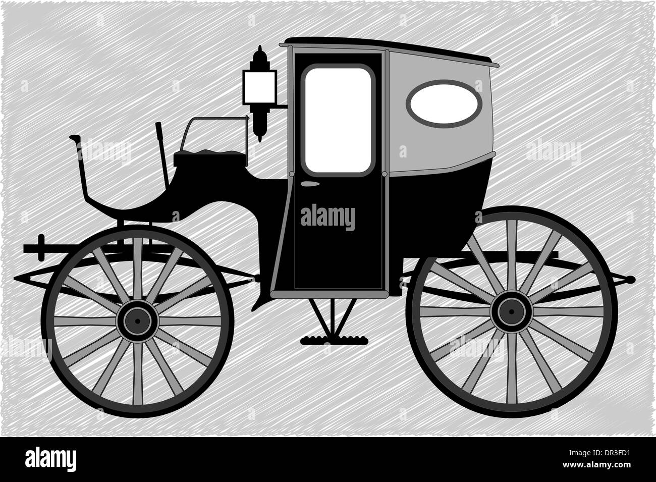 Un tipico vittoriano o stile Georgiano carrello britannico Immagini Stock