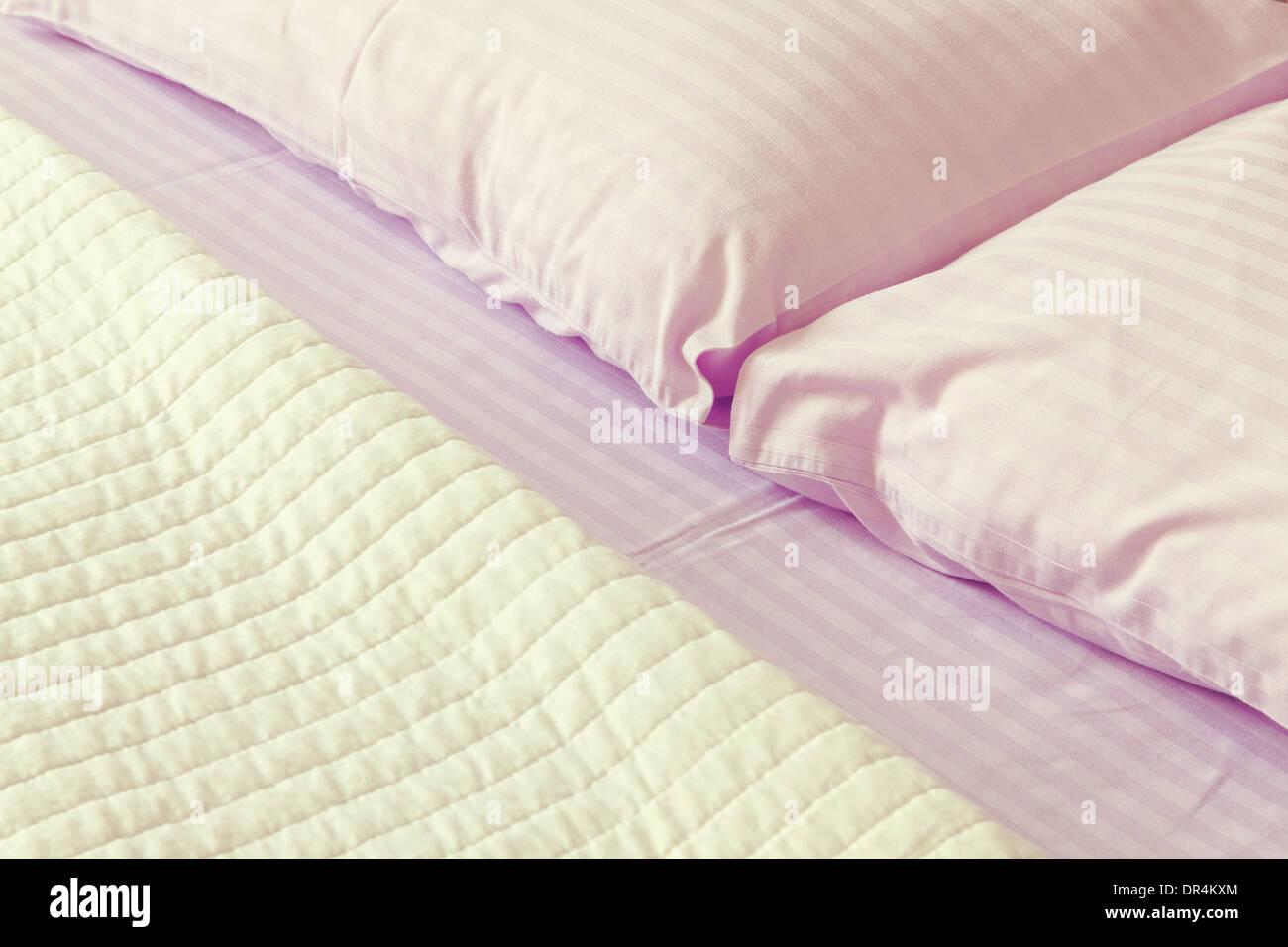 Dettagli e texture di un moderno bed sheets. Immagini Stock