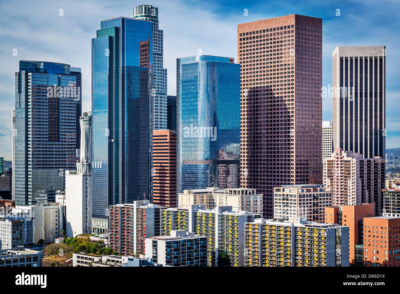 Los Angeles, California, Stati Uniti d'America downtown cityscape. Immagini Stock