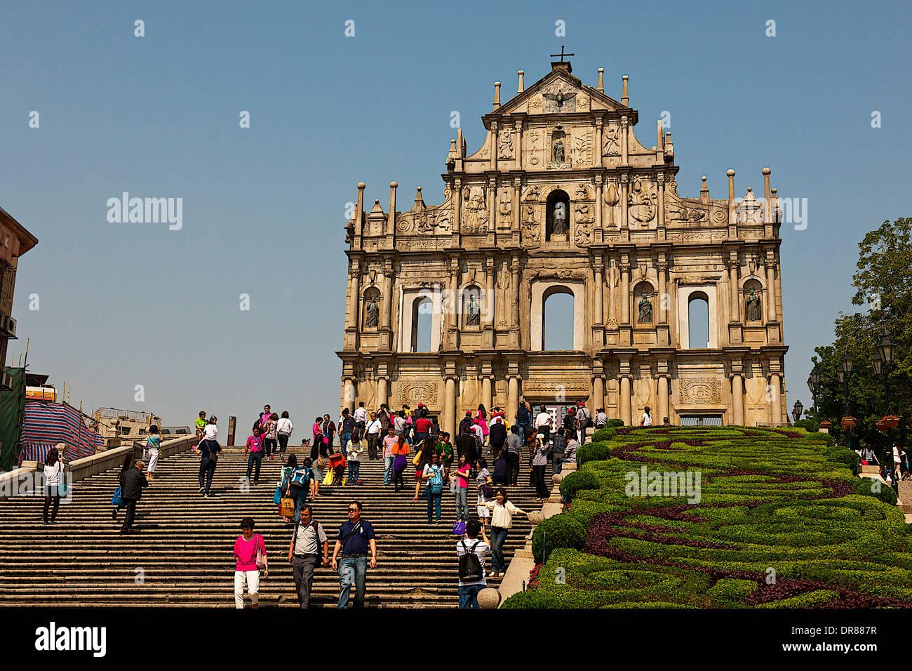 Rovine della Cattedrale di San Paolo, Macau, Cina Immagini Stock