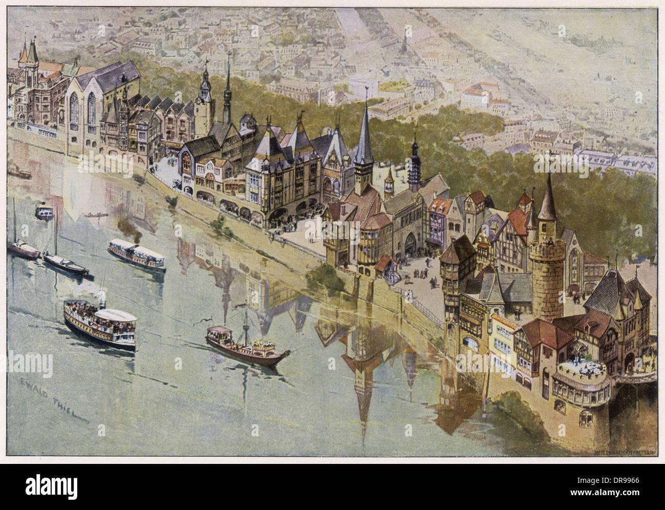 Parigi medievale di cron Immagini Stock