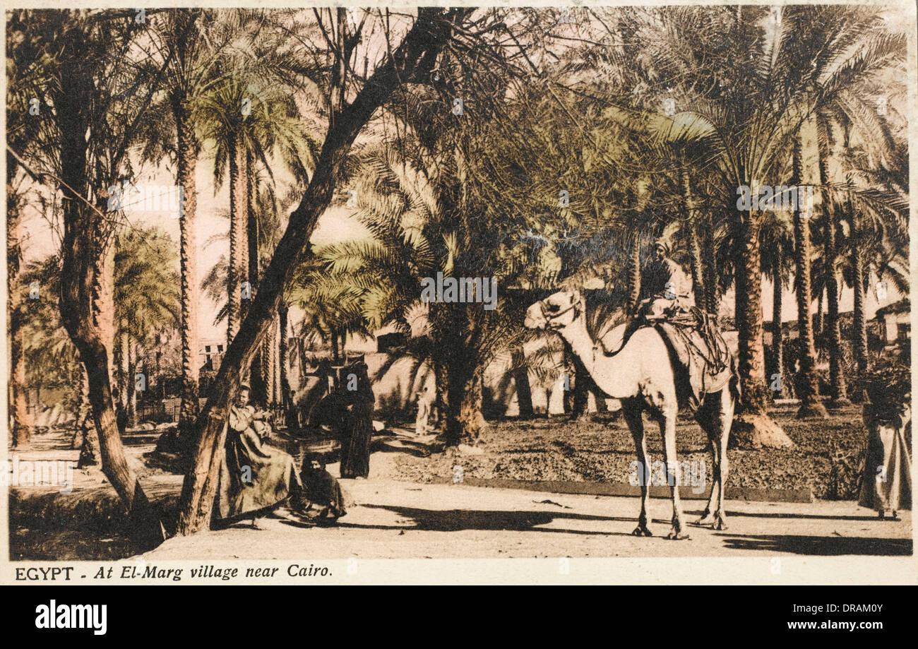 El-Marg villaggio vicino a Il Cairo, Egitto Immagini Stock