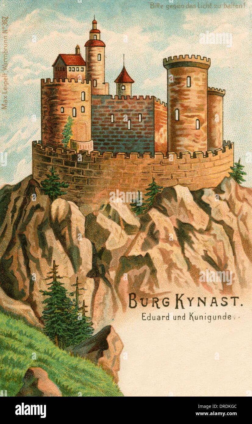 Kunigunde legenda a Castello Chojnik (Kynast) Immagini Stock