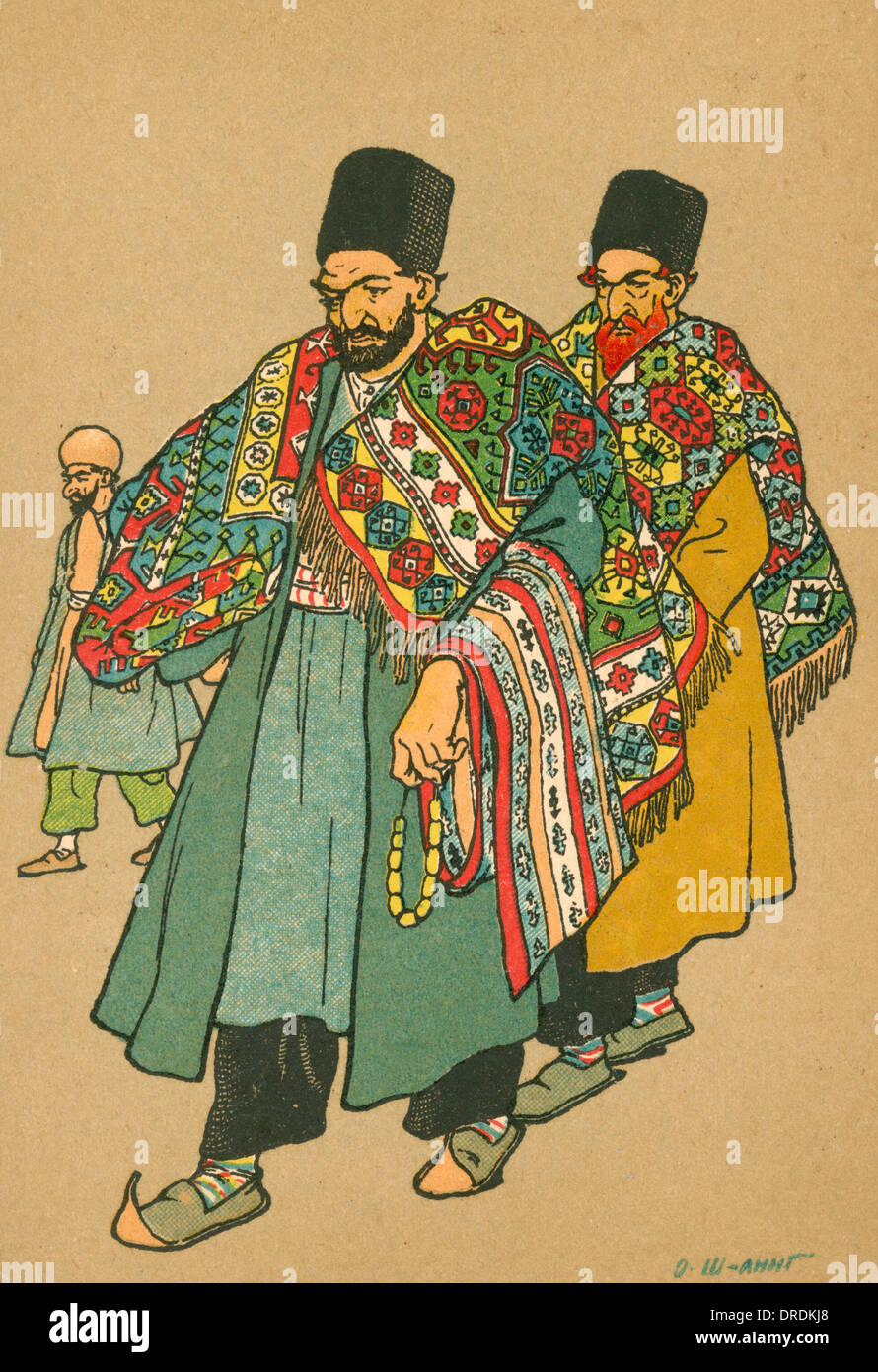 Due riccamente ornato Georgian ebrei Immagini Stock