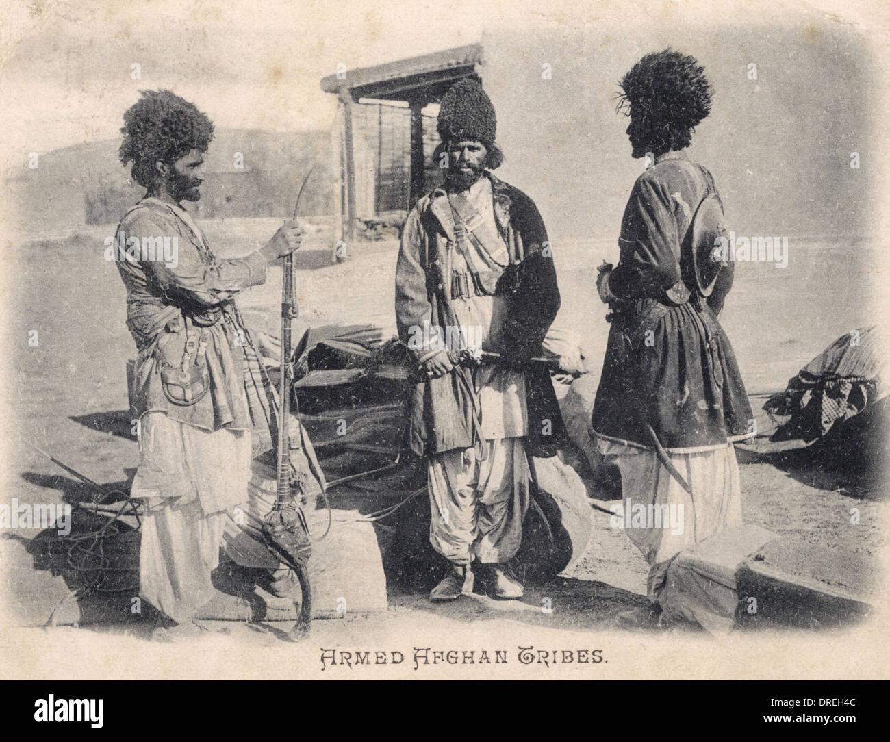 Armati Tribesmen afgano Immagini Stock