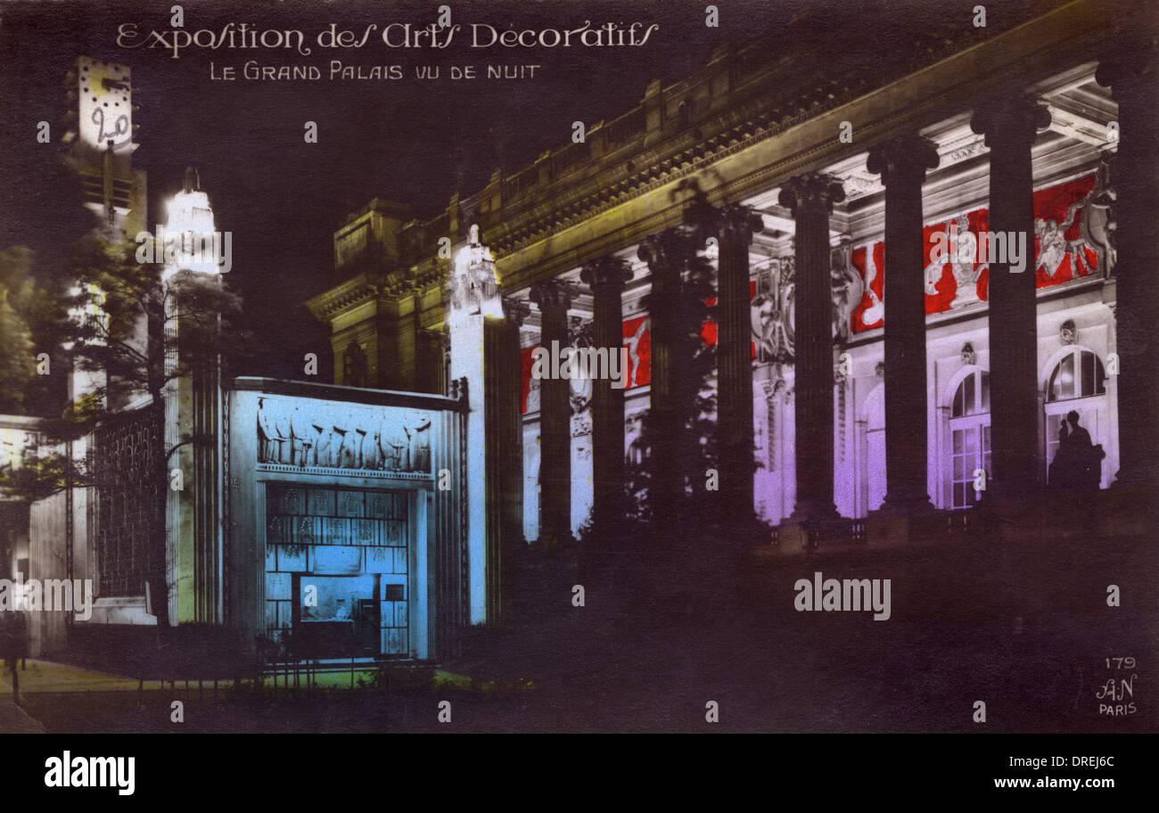 Il Grand Palace - Rassegna di Arti Decorative, Parigi Immagini Stock