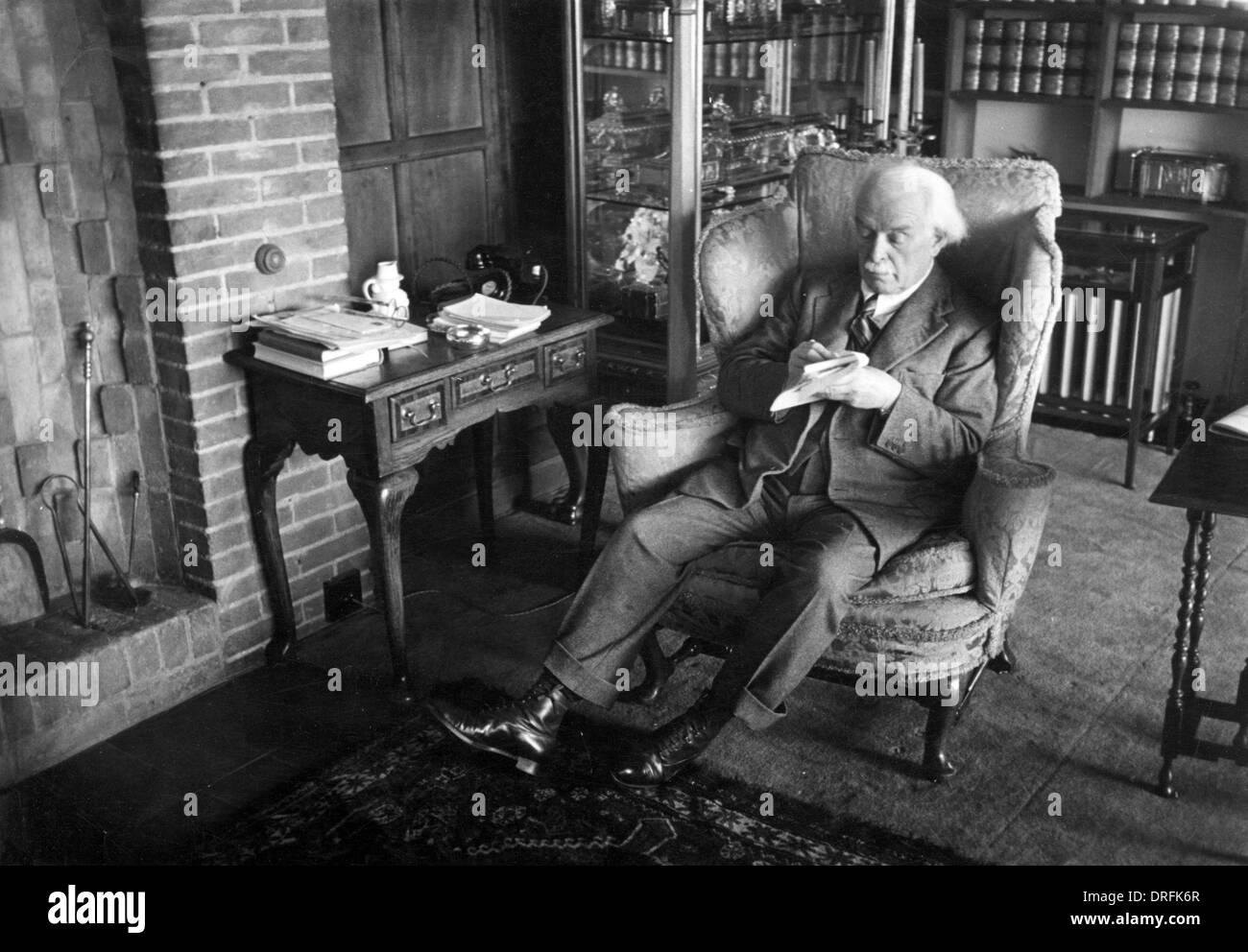 David Lloyd George, il Primo Ministro britannico Foto Stock