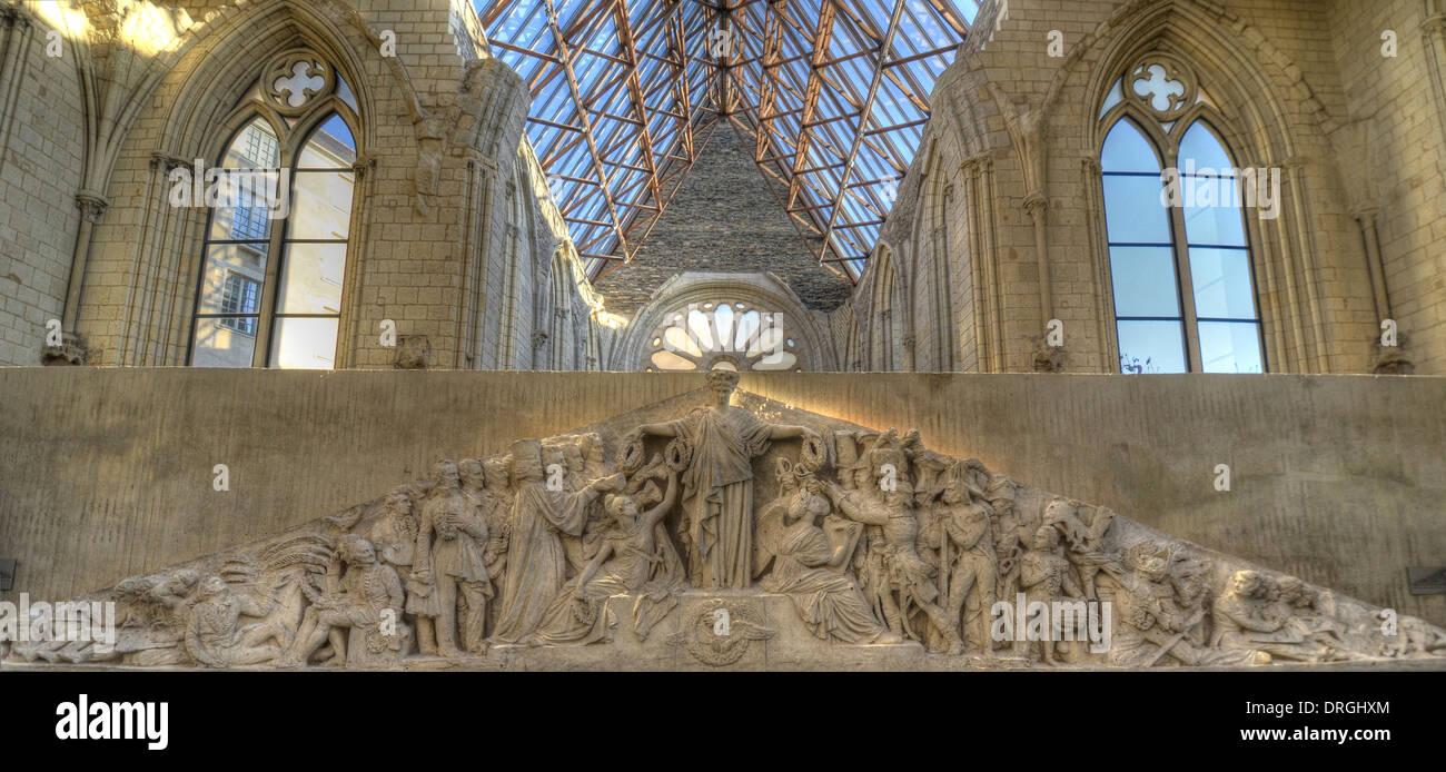 Galerie David D'Angers Art Museum, Angers nella Valle della Loira, nel dipartimento di Maine-et-Loire, in Francia. Immagini Stock