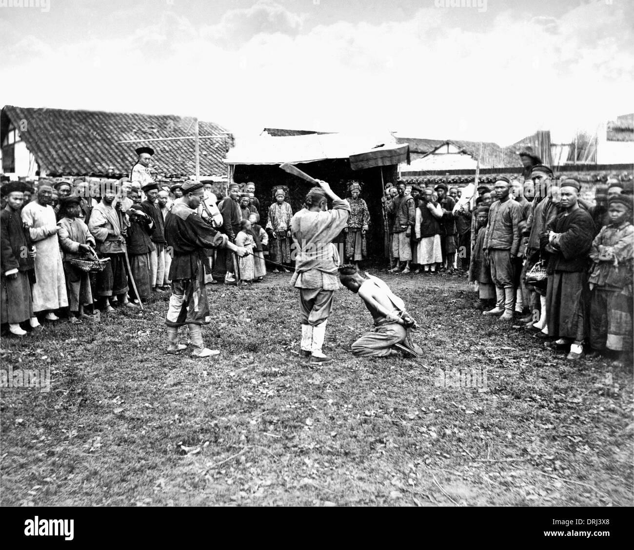 Scena di esecuzione, Cina Immagini Stock