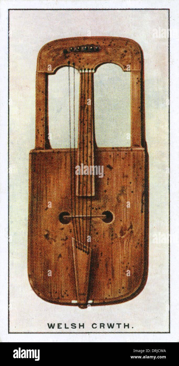 Crwth gallese - raro strumento musicale Immagini Stock