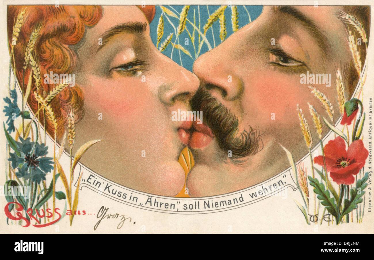 Nessuno può rifiutare un onorevole Kiss Immagini Stock