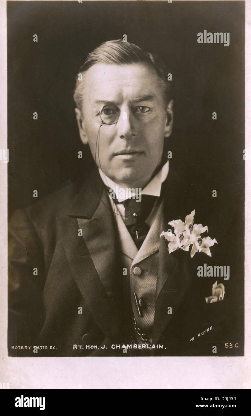 Ritratto di destra onorevole Joseph Chamberlain Immagini Stock