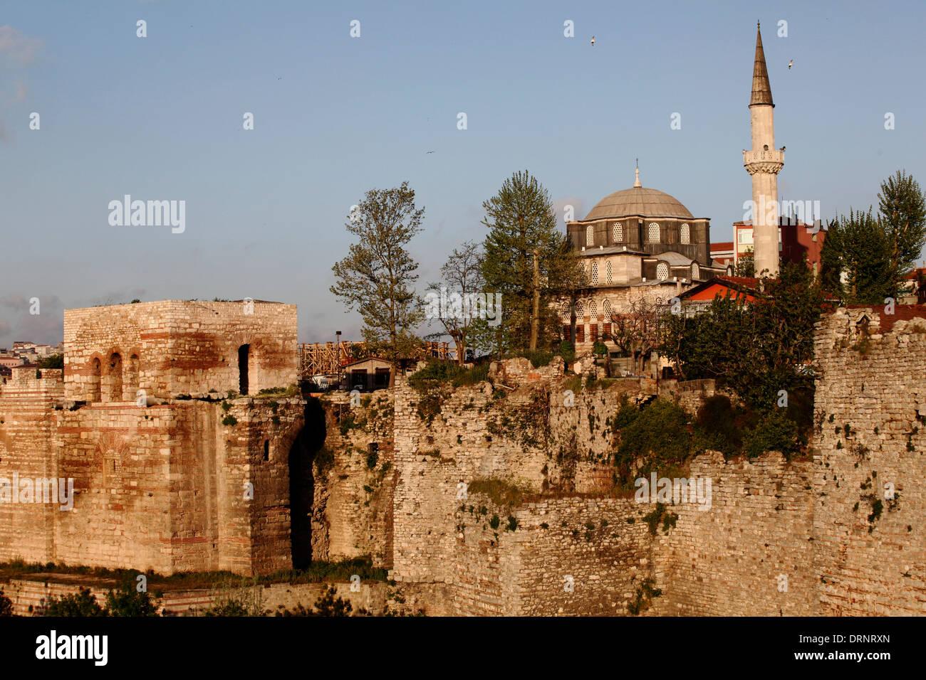 Storica fortezza di Istanbul in Turchia Immagini Stock